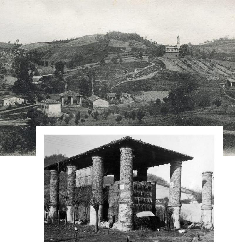 Panorama di una volta su Saline Farnesiane di Salsominore