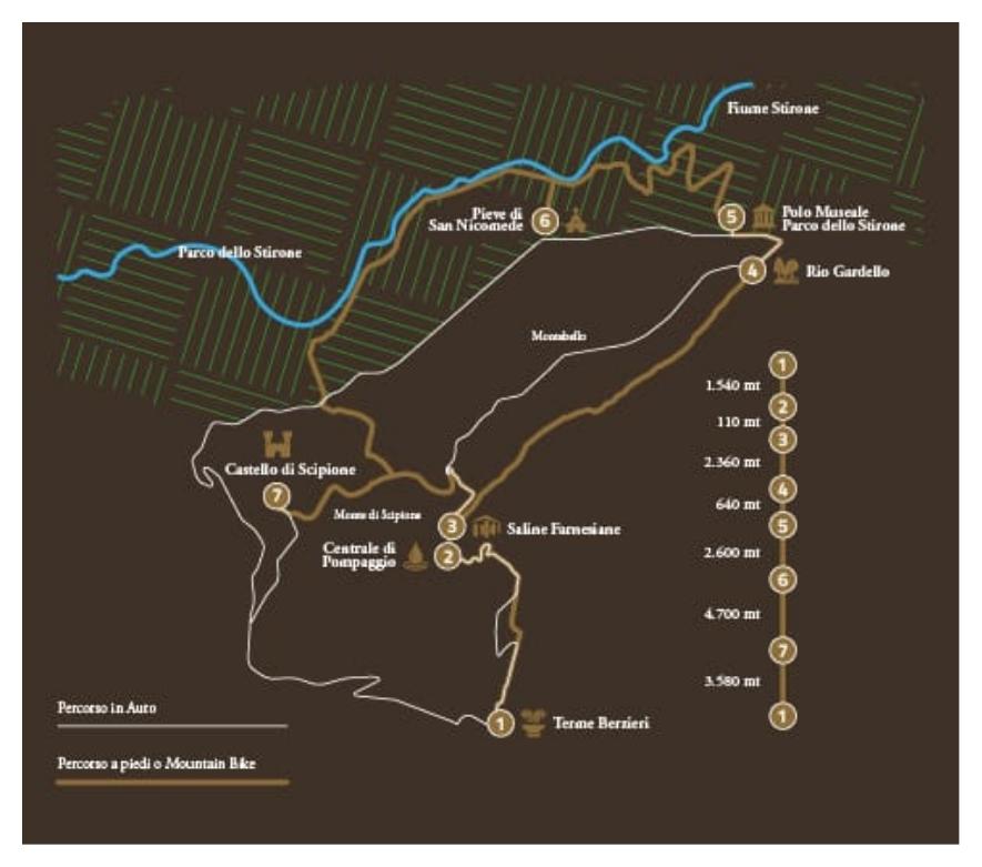 Mappa percorso Sale et Terra de Salsis