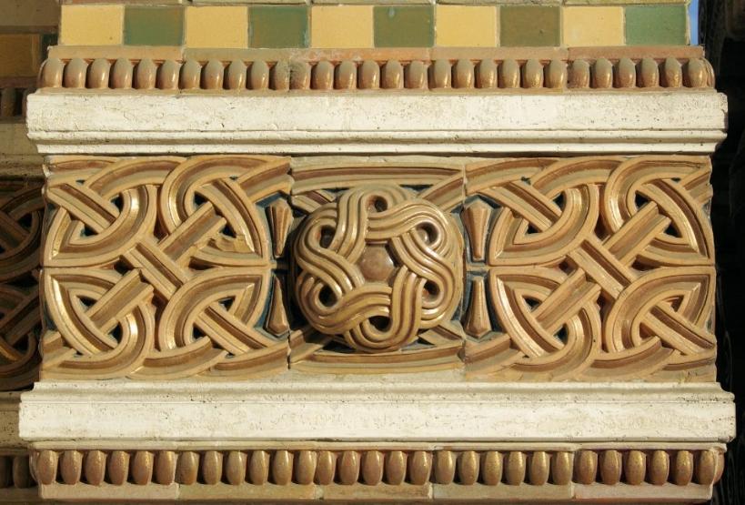 Chini ceramics Salsomaggiore Terme, Art Nouveau style