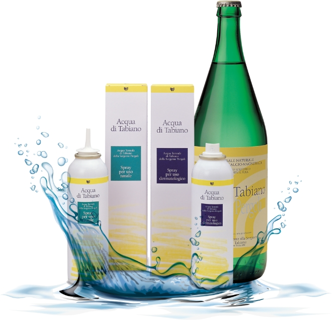 Acqua di Tabiano, spray nasale e spray per uso dermatologico