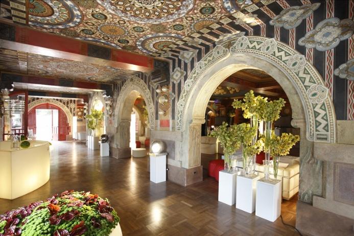 Hall inside the Palazzo dei Congressi of Salsomaggiore Terme