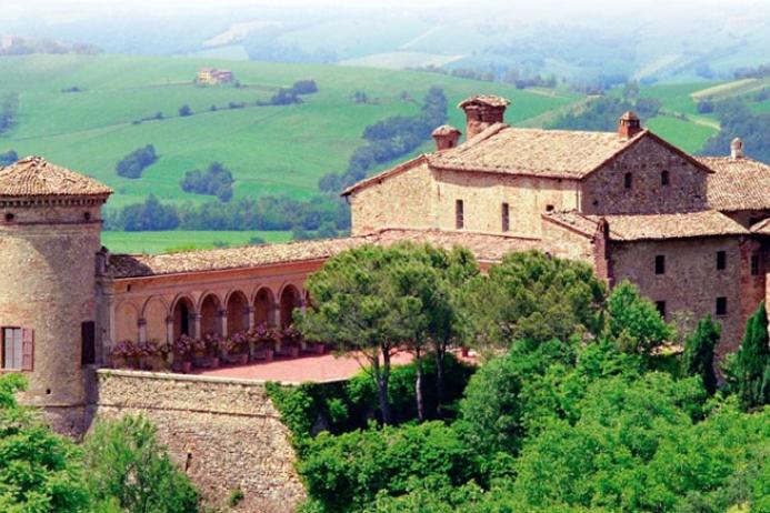 Castello di Scipione dei Marchesi Pallavicino visto dall'alto