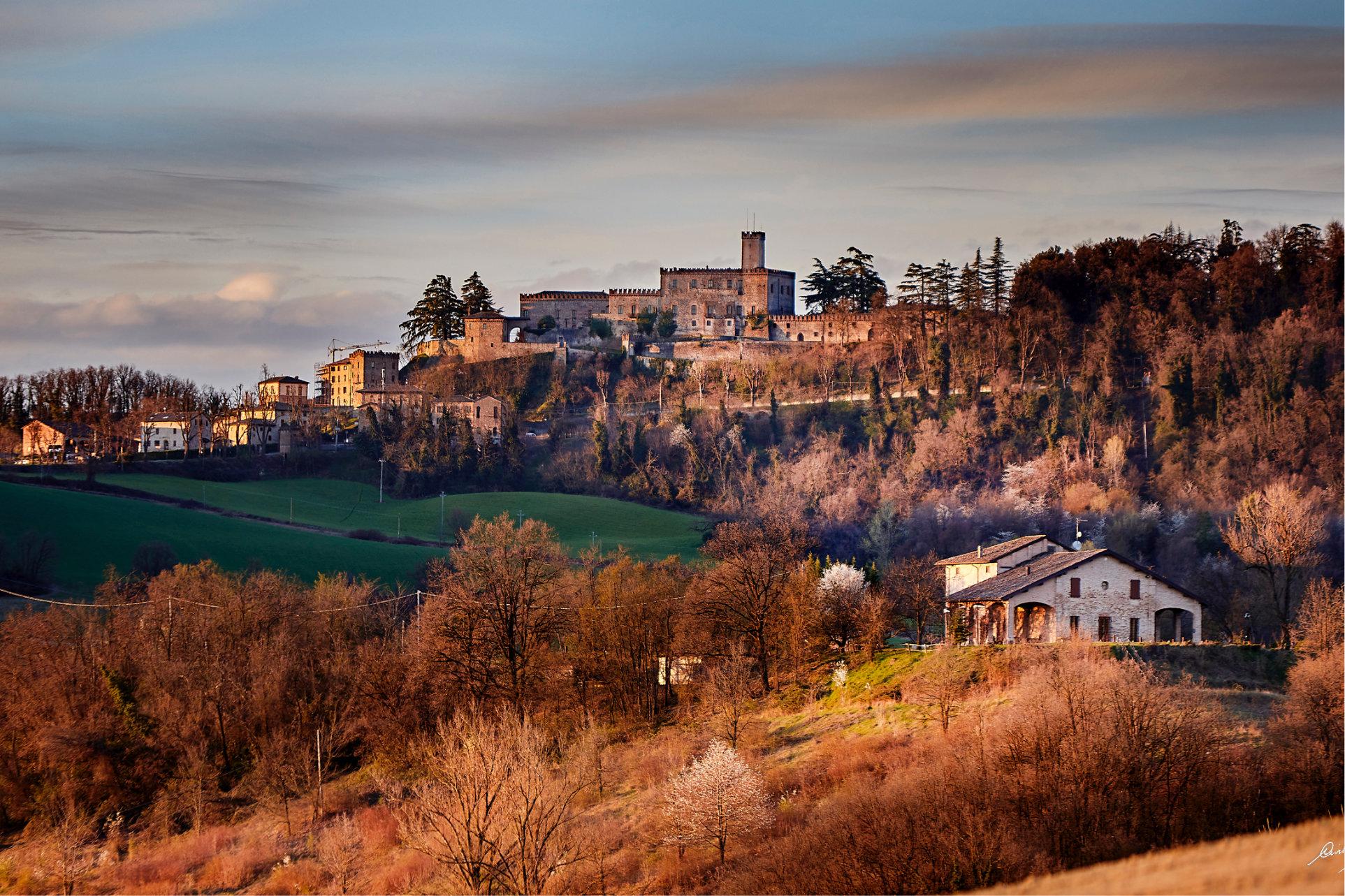 Panorama con Castello di Tabiano